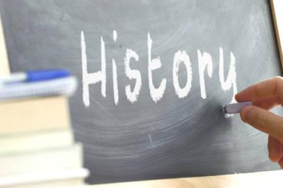 History on a chalkboard