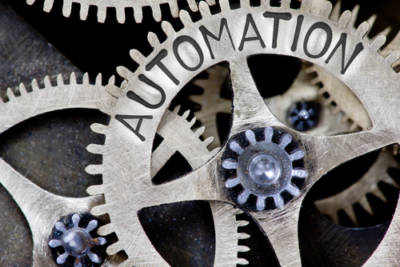 "Automation"" written on a gear"